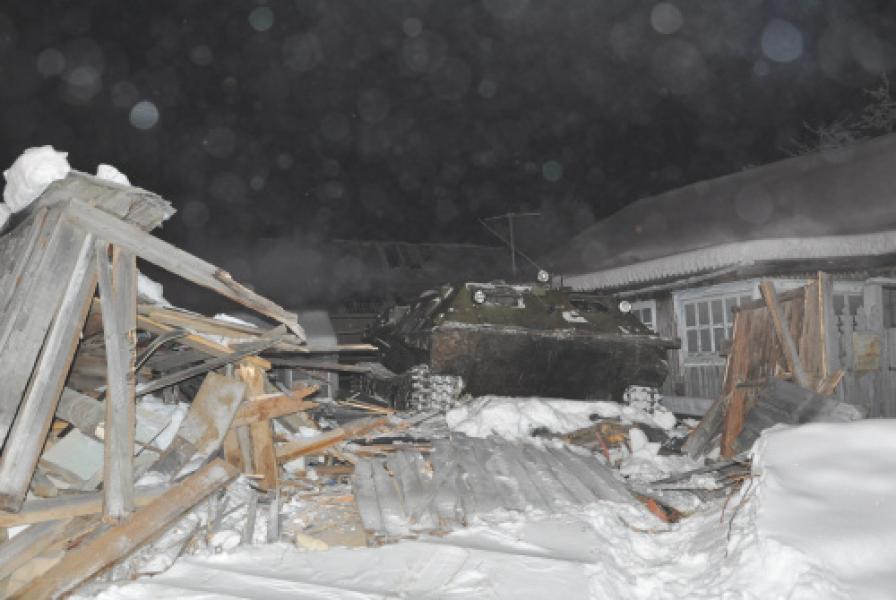 Необычный виновник дорожного происшествия в поселке Березово