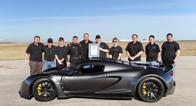 Hennessey Venom GT установил мировой рекорд скорости среди серийных автомобилей