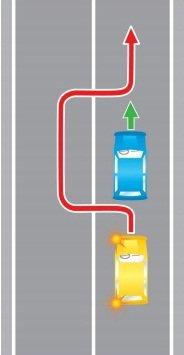 Выезд на полосу встречного движения, в нарушение требований, предписанных разметкой проезжей части дороги.