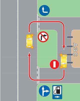 Несоблюдение требований, предписанных дорожными знаками и (или) дорожной разметкой проезжей части дороги, при въезде на прилигающую территорию или при выезде с такой территории.