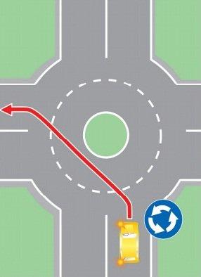 """Выезд в нарушение требований, предписанных дорожным знаком 4.3 """"Круговое движение"""", на полосу встречного движения."""
