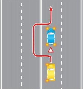 Въезд в нарушении правил дорожного движения (ПДД) на полосу встречного движения, при объезде препятствия либо на трамвайные пути встречного направления при объезде препятствия.