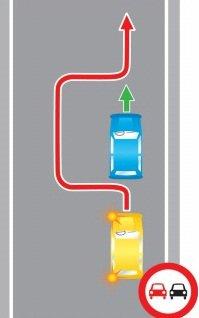 Выезд на встречную полосу, в нарушение требований, предписанных дорожными знаками.