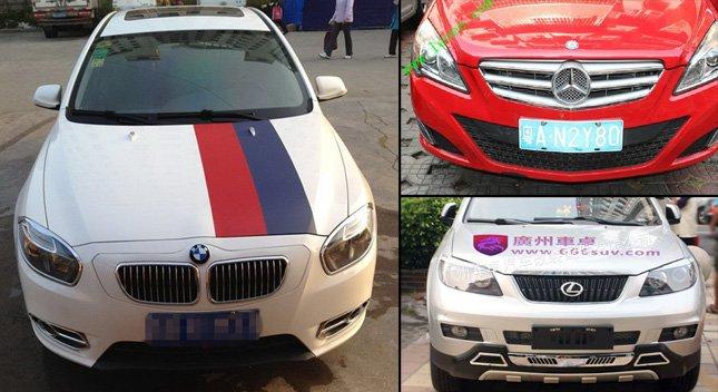 Китайцы превращают свои автомобили в BMW, Lexus и Mercedes