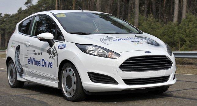 Полностью электрический Ford Fiesta eWheelDrive от Немецкой компании Schaeffler