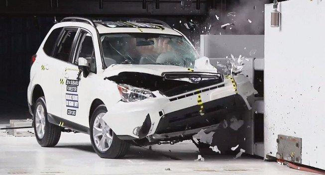 2013 Subaru Forester получила высшие оценки по результатам краш-тестов среди компактных кроссоверов