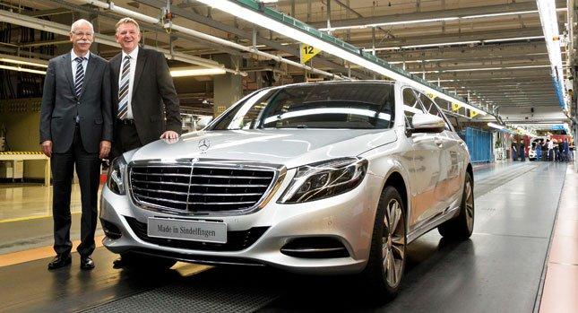 Mercedes-Benz начинает серийное производство нового поколения S-класса 2014 года