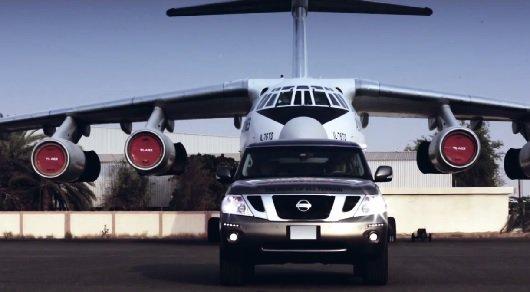 Nissan Patrol установил мировой рекорд по буксировки самого тяжелого самолета