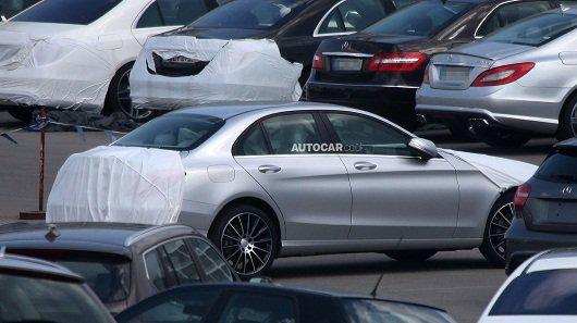Новый Mercedes C-класса 2015 года - внешность частично раскрыта
