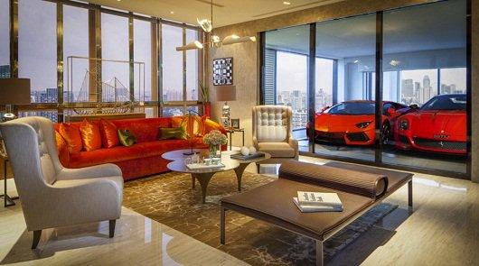 Роскошные автомобили, как часть домашнего декора