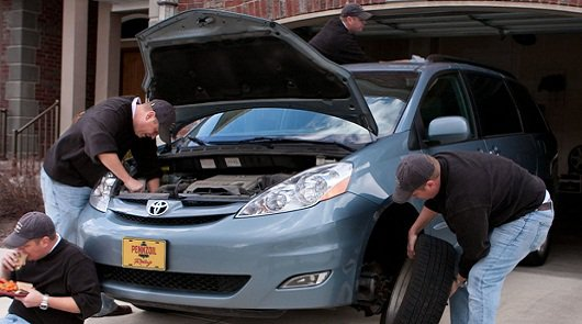Плановое обслуживание автомашины