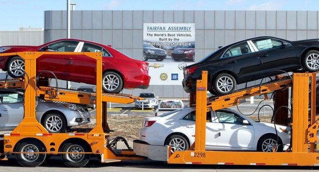 Американские автопроизводители в течение 2013 года зафиксировали рекодный объем экспорта