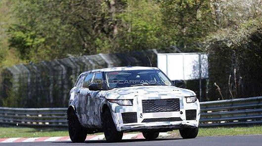 Кроссовер Jaguar был замечен на Нюрбургринге