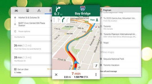 Google Maps улучшил мобильную навигацию