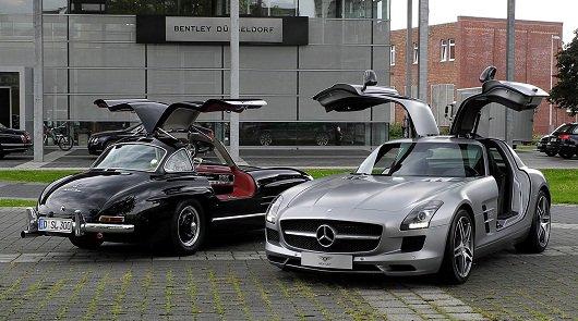 Современные автомобили против классических автомобилей
