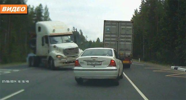 Аварии с грузовыми автомобилями с видеорегистратора