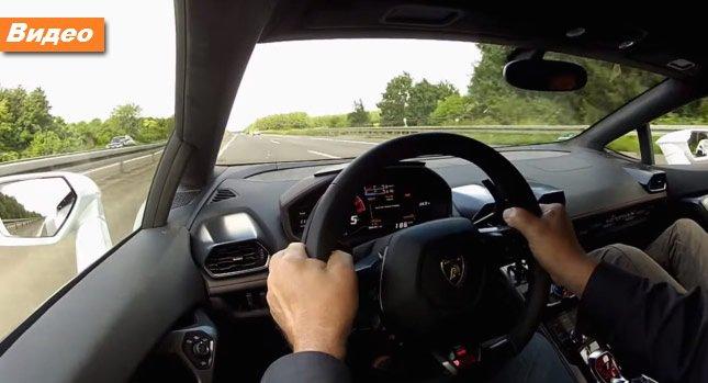 Lamborghini Huracan на Немецком автобаме [видео]