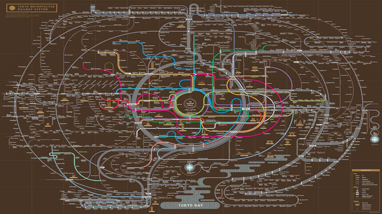 Самый большой метрополитен в мире схема