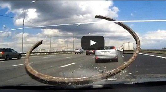 Сборник роликов с видеорегистраторов о неожиданностях на дорогах