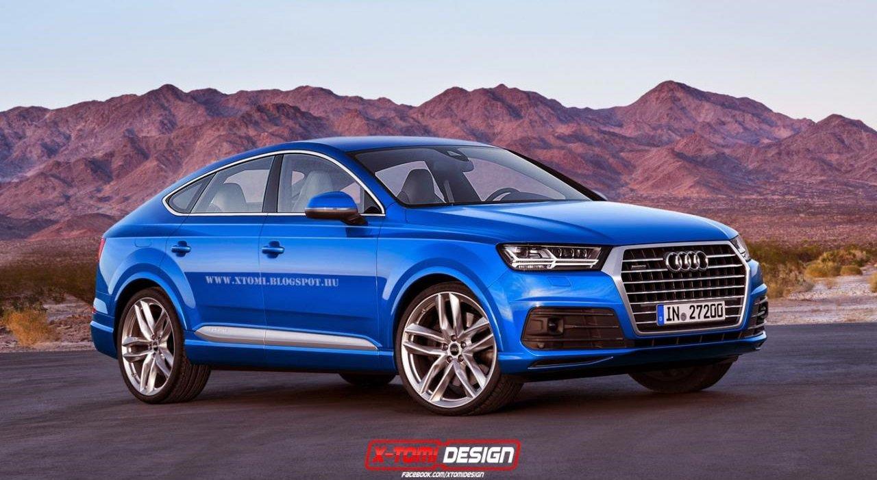 Audi Q8, возможно таким будет конкурент BMW X6 и Mercedes GLE Coupe