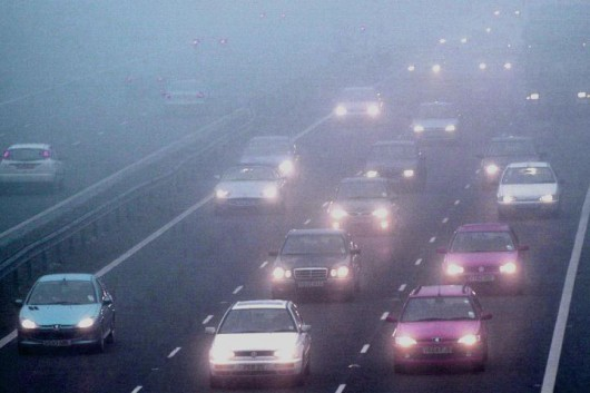 Как обезопасить себя при движении в тумане