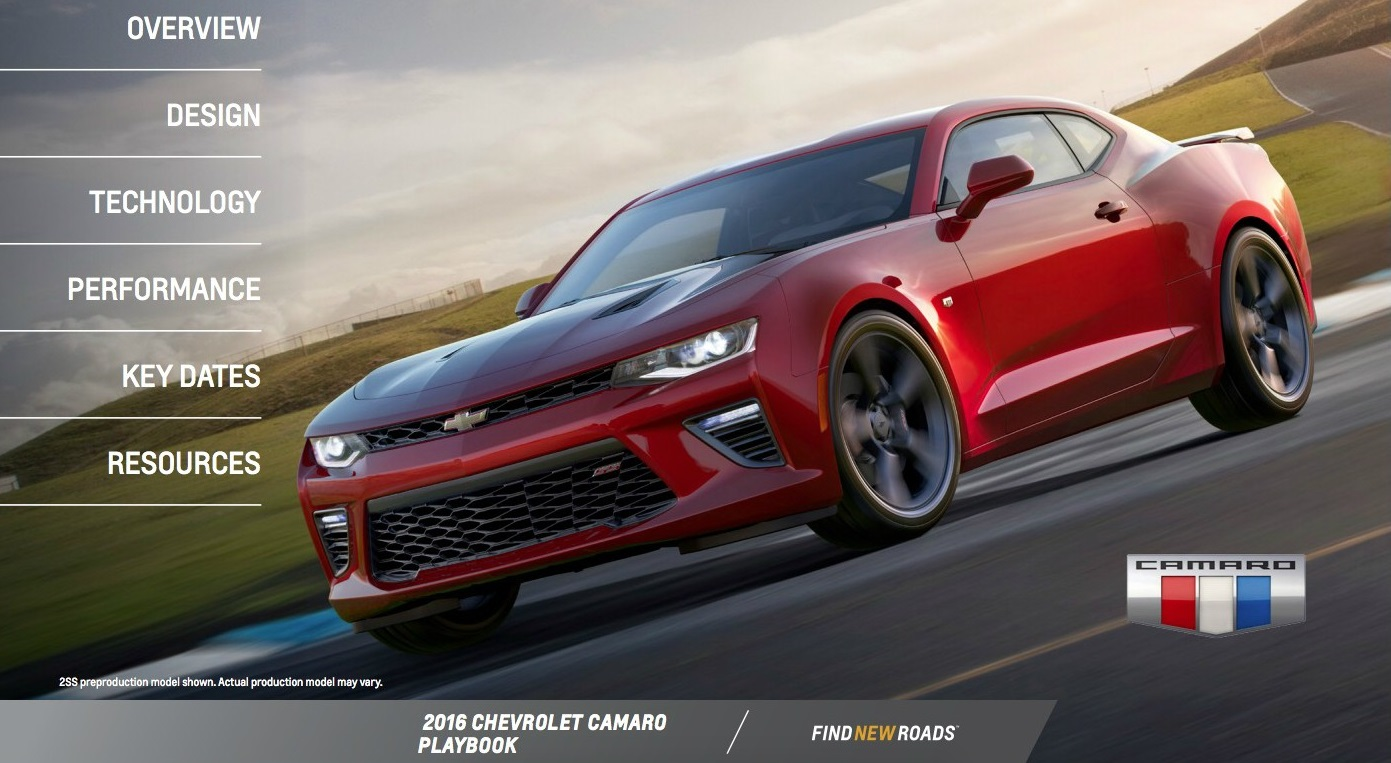 2016 Chevrolet Camaro PlayBook, 15 страниц «вкусностей» фото