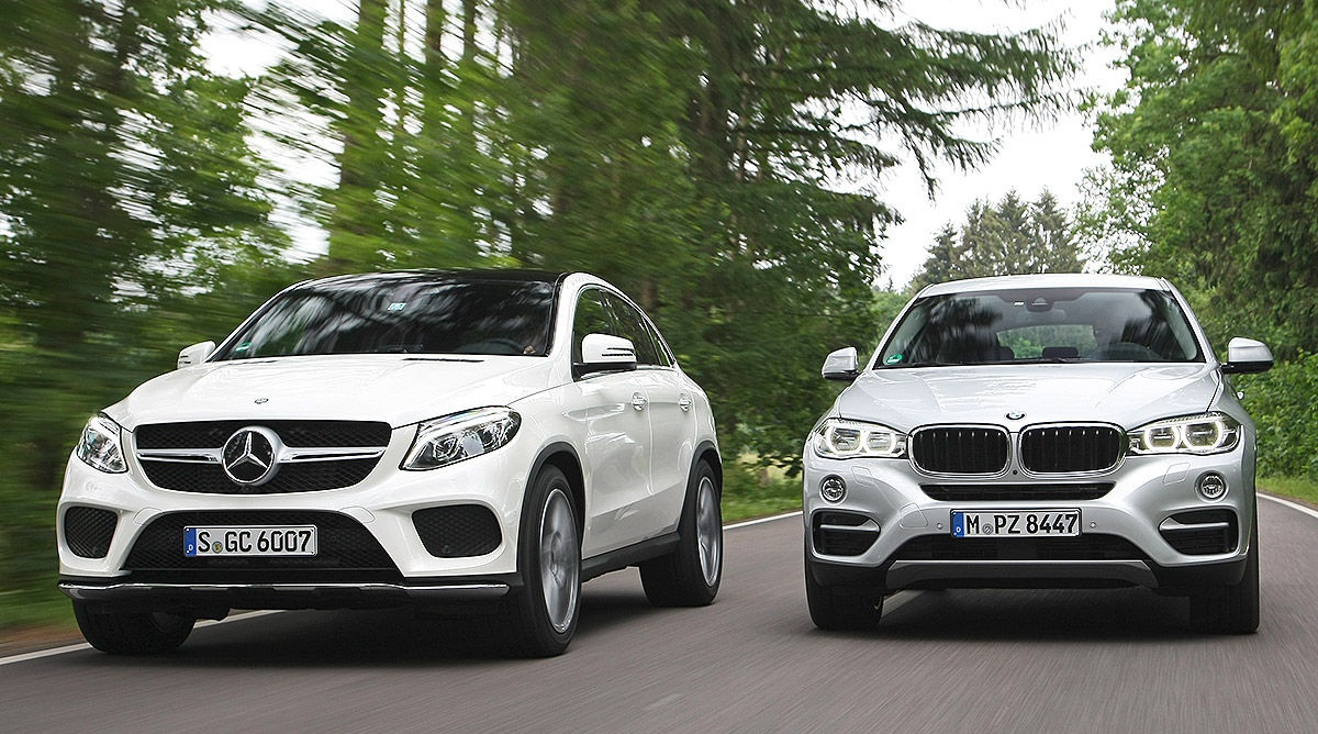 Mercedes GLE Coupe � BMW X6: ������������� ����-����� ����