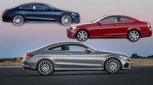 Сравнение нового Mercedes C-Class Coupe со старой моделью и с новым S-Class Coupe