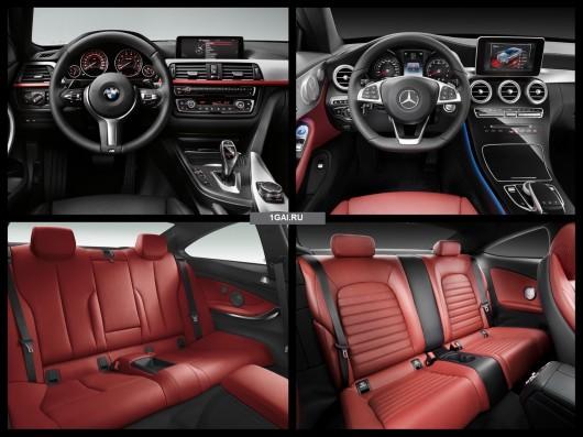 Сравнение Mercedes C-Class Coupe 2016 против BMW 4-серии