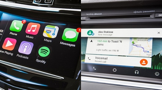 Apple CarPlay ������ Google Android Auto ����