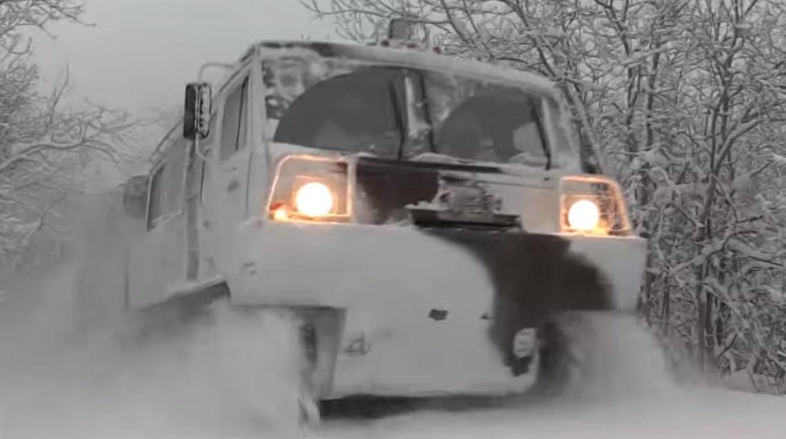 Новый российский арктический вездеход «Руслан»
