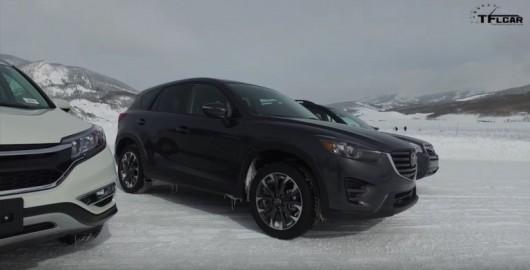 2016 Mazda CX-5 против Honda CR-V и против Subaru Forester в снегу