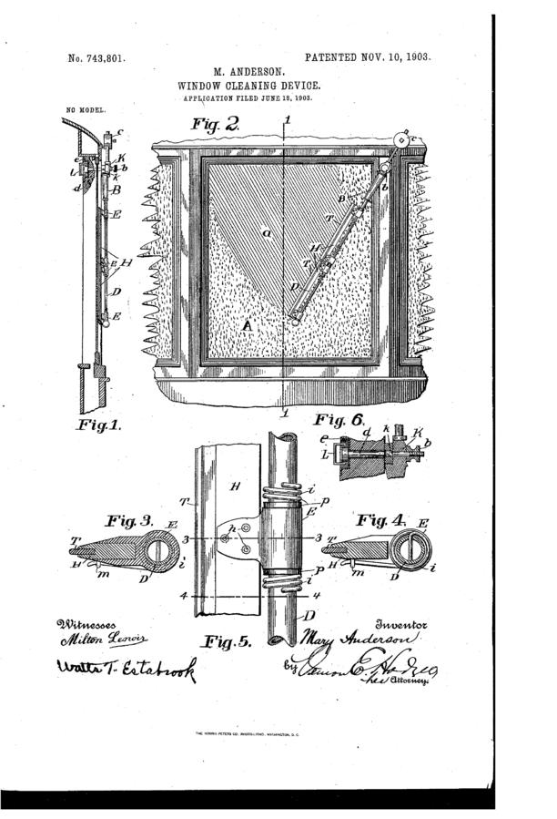 Мэри андерсон изобрел ветровое стекло