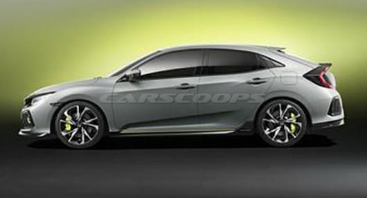 Фотографии будущего Honda Civic Hatchback попали в сеть