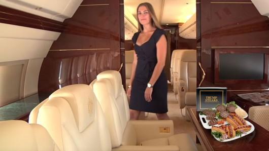 Самолет Дональда Трампа: Добро пожаловать на борт роскошного лайнера
