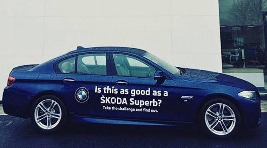 Skoda побуждает к покупке нового Superb, давая на тест BMW 5-серии