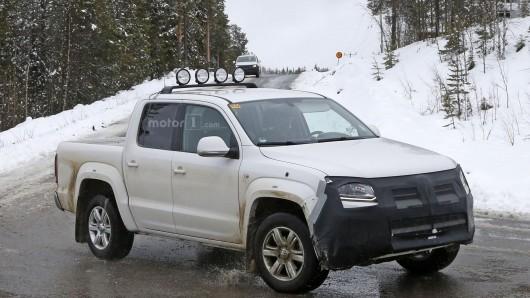 В Швеции замечен обновленный VW Amarok