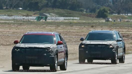 Новые шпионские фотографии большого внедорожника Volkswagen CrossBlue