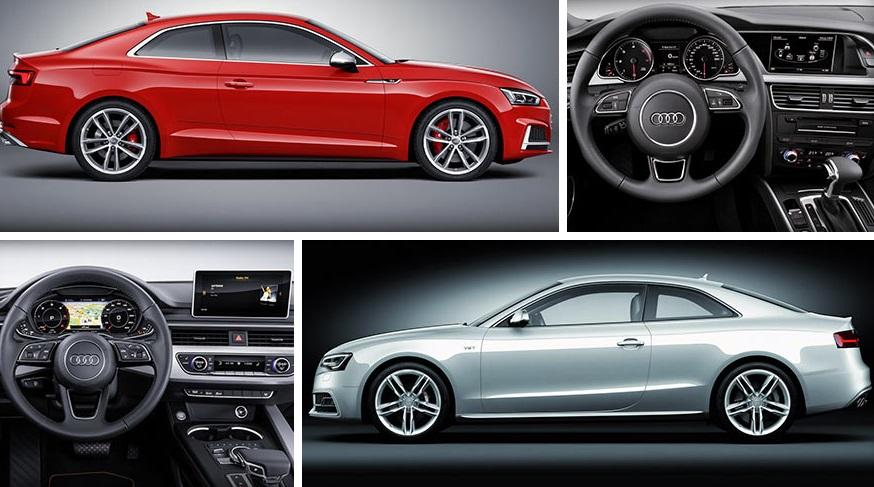 Сравнение Audi A5 Coupe 2015 и 2016 года