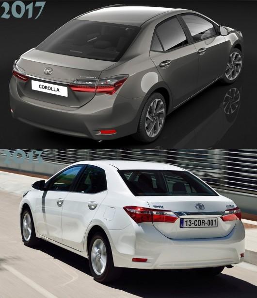 Официальные фотографии и технические характеристики рестайлинговой 2017 Тойота Королла