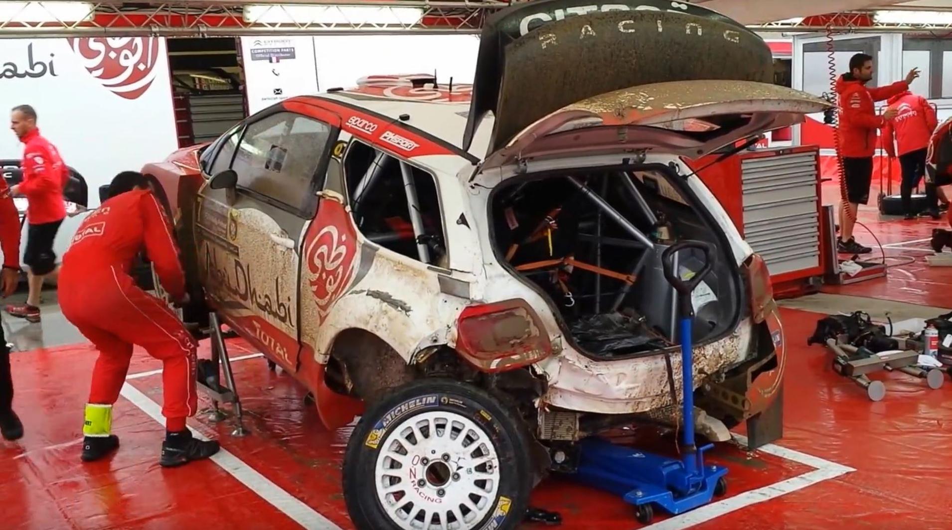 Как починить разбиты раллийный автомобиль за 30 минут? [Видео]