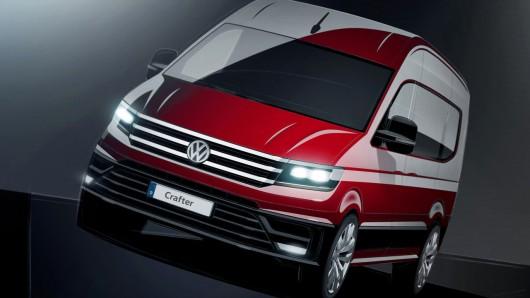 Первые эскизы нового минивена Volkswagen Crafter