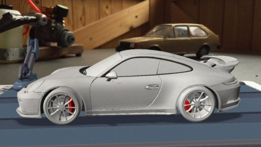 Показаны фотографии рестайлингового Porsche 911 GT3