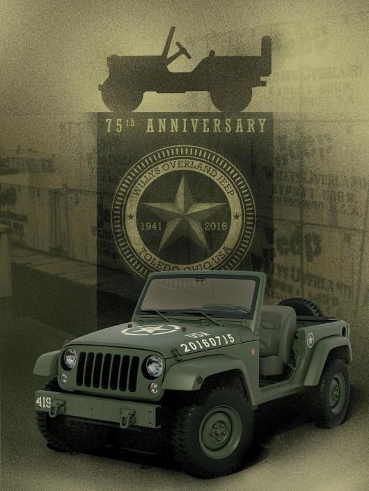 Jeep празднует 75-ти летие Willys MB