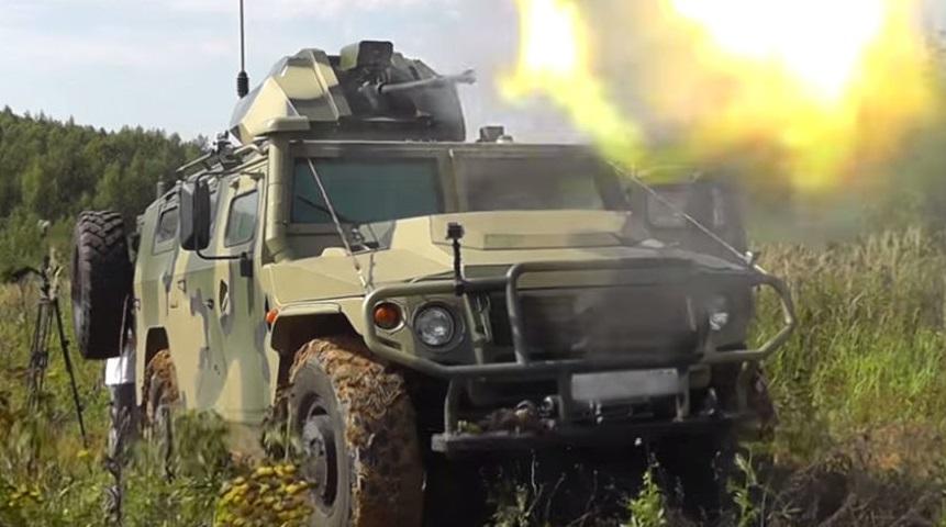 Российская армия получит радиоуправляемый бронеавтомобиль «Тигр»