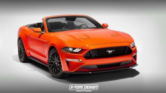 Ford Mustang в версии седан, рендеринг фото