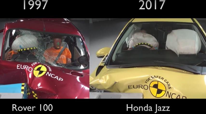 Как далеко шагнула автомобильная безопасность за 20 лет: Видео краш-тестов