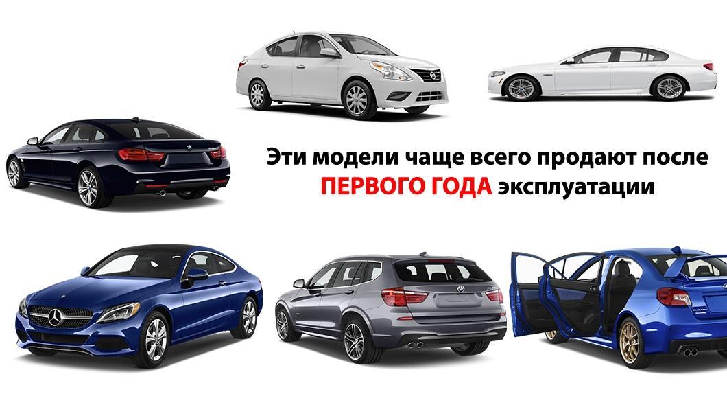 12 моделей новых автомобилей, которые чаще всего продают в первый год после покупки