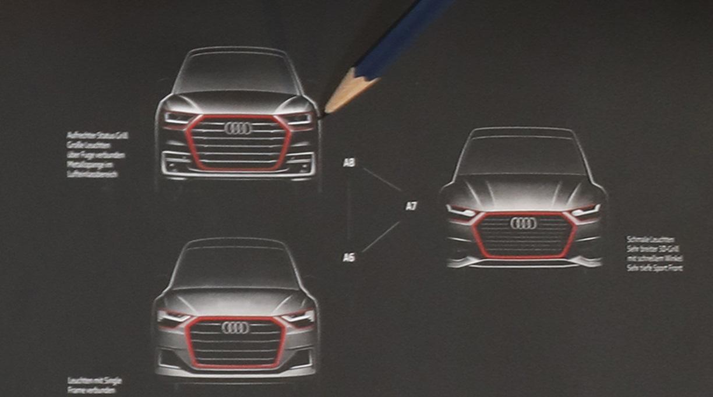 Первые официальные наброски дизайна 2018 Audi A6, A7 и A8 появились в сети интернет