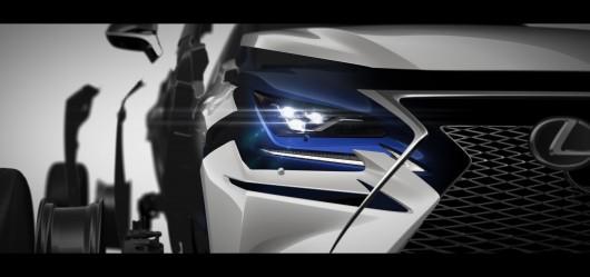 2018 Lexus NX показал первую официальную фотографию обновленного кроссовера
